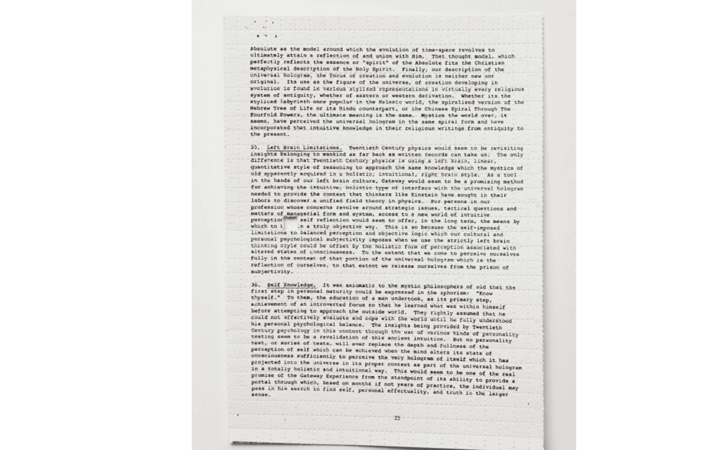 The 25th Page of the CIA's Gateway Report on Astral Projection Has Been Discovered